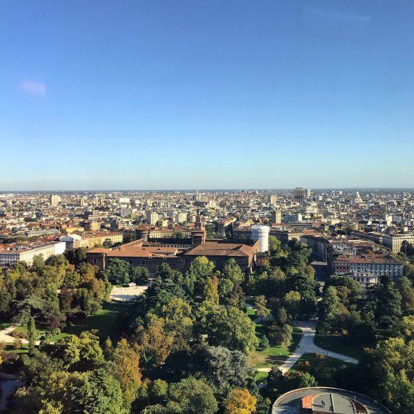 Vista sul Castello Sforzesco dalla Torre Branca