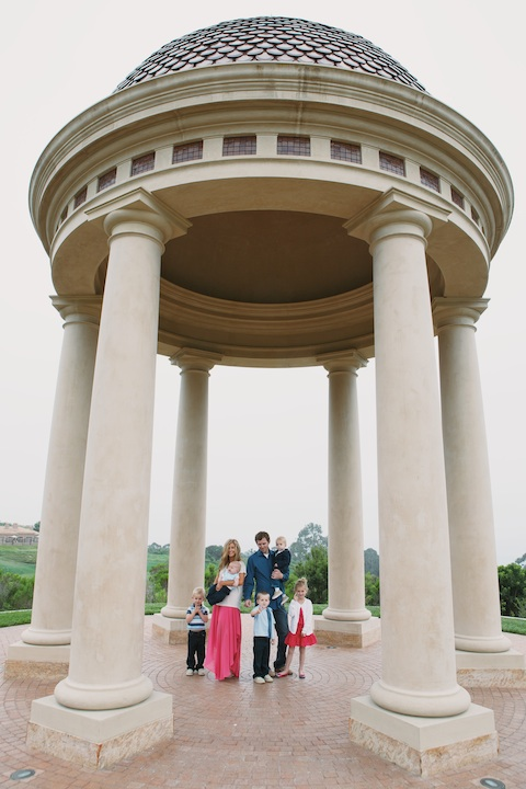 Wallace Family; Pelican Hill; golf course family fun; five kids; One Glass Slipper; gazebo