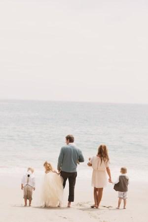 Wallace Family; Laguana Beach; One Glass Slipper; ocean ; five kids