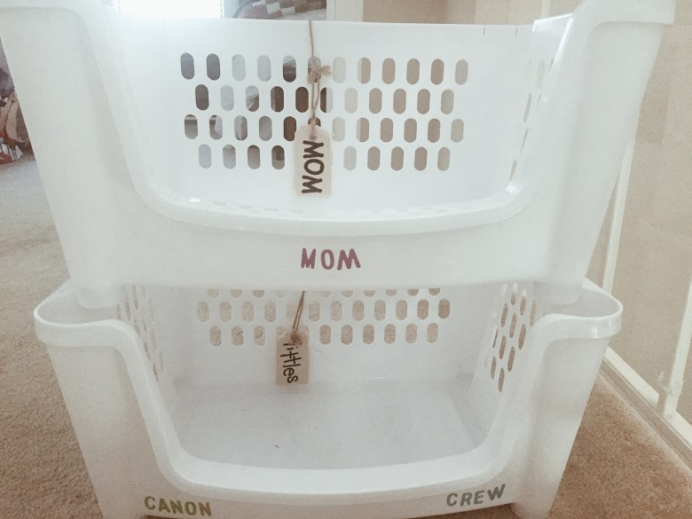 stackable laundry bins