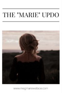 """the """"marie"""" updo by meg marie wallace"""