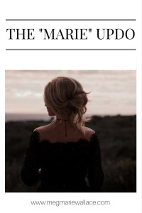 "the ""marie"" updo by meg marie wallace"