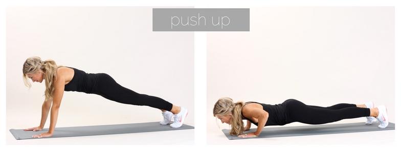 meg marie fitness | push up-