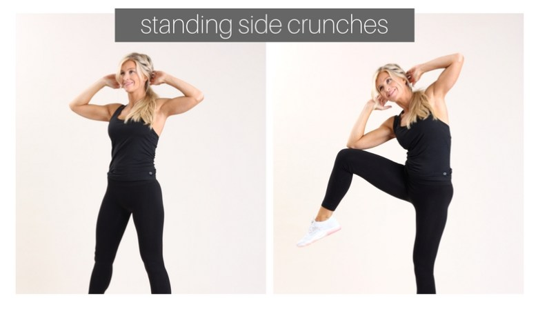 standing side crunches
