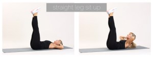 straight leg sit up