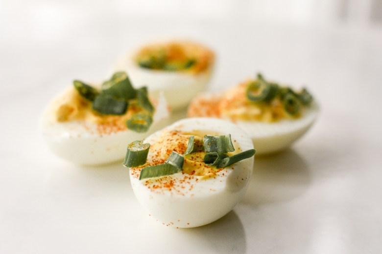 deviled eggs; week 4 recipe | meg marie fitness