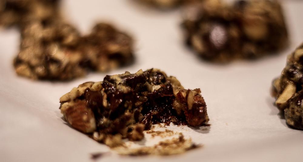 dark chocolate date cookies   meg marie wallace blog
