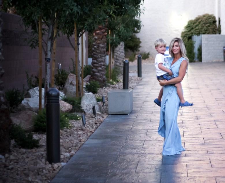 Vegas | Excalibur | blue ruffle dress | meg marie wallace
