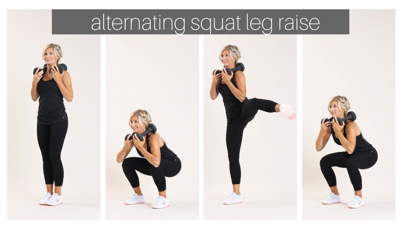 alternating leg squat