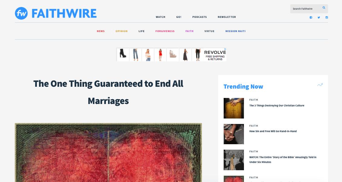 faithwire | meg marie Wallace | press | media