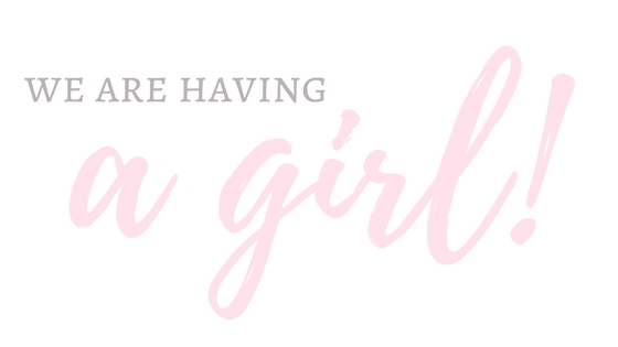 We're having a girl!!!   baby gender announcement!   meg marie wallace