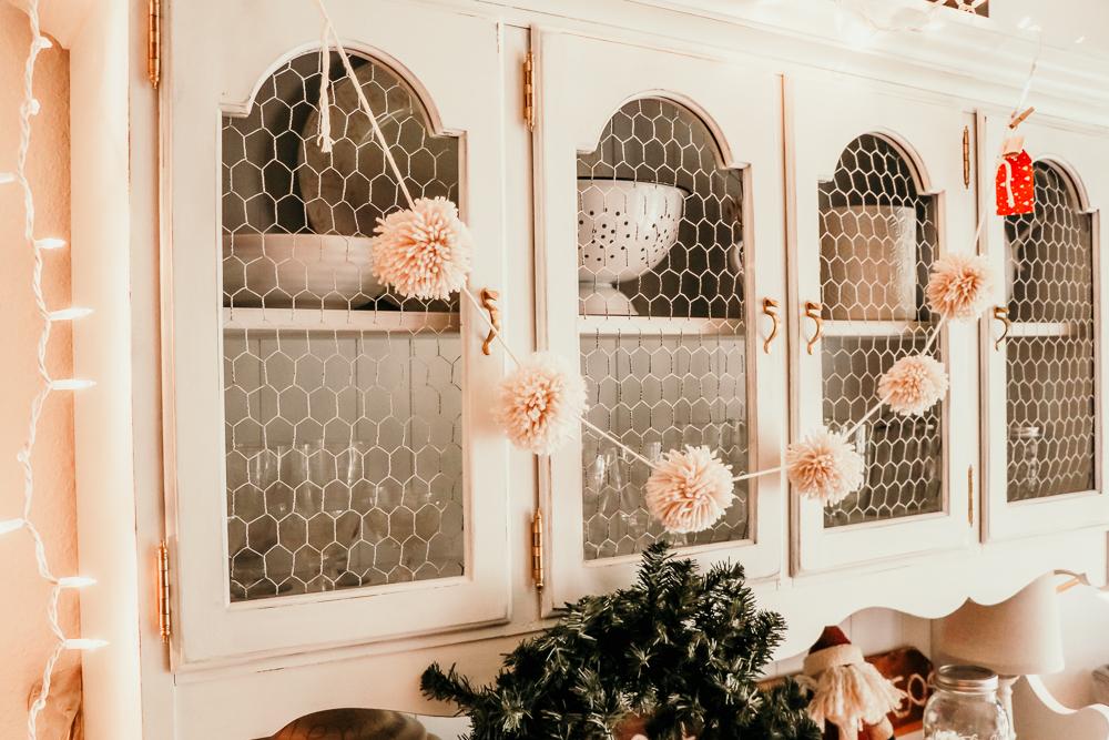 reindeer tan pom garland | meg Marie Wallace | W6 Christmas Shop