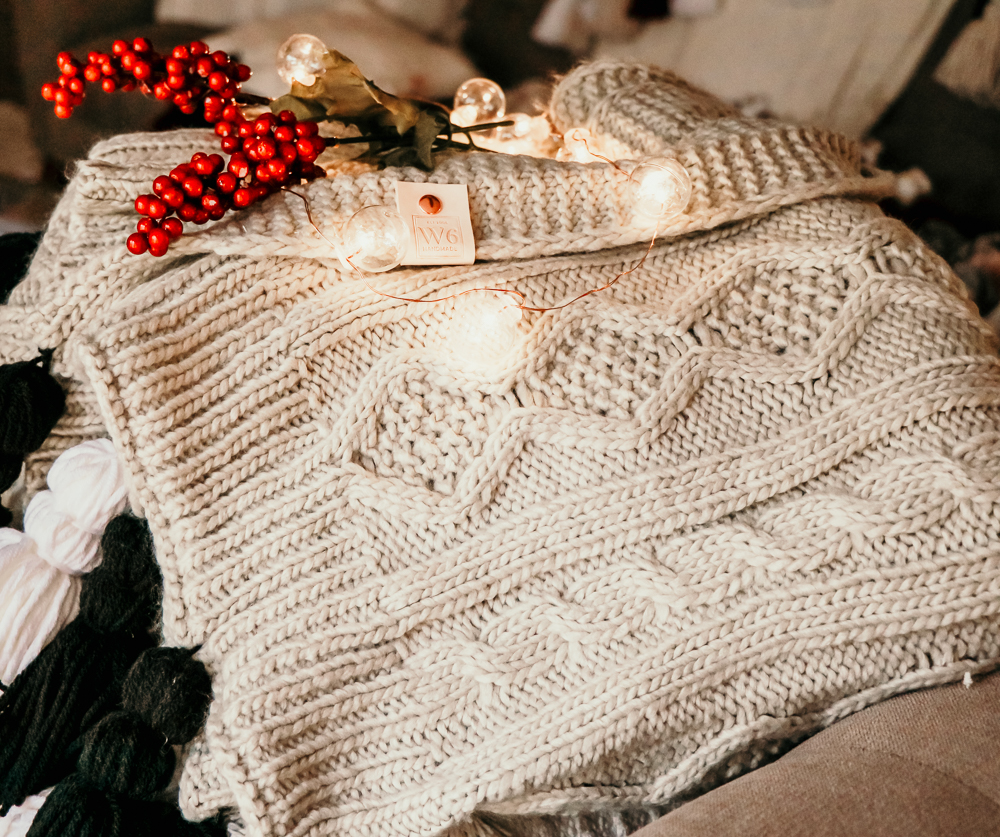 the Dancer Cream Sweater Blanket | Meg Marie Wallace | W6 Christmas Shop