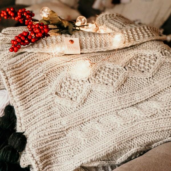 the Dancer Cream Sweater Blanket | Meg Marie Wallace | W6 Christmas Shop
