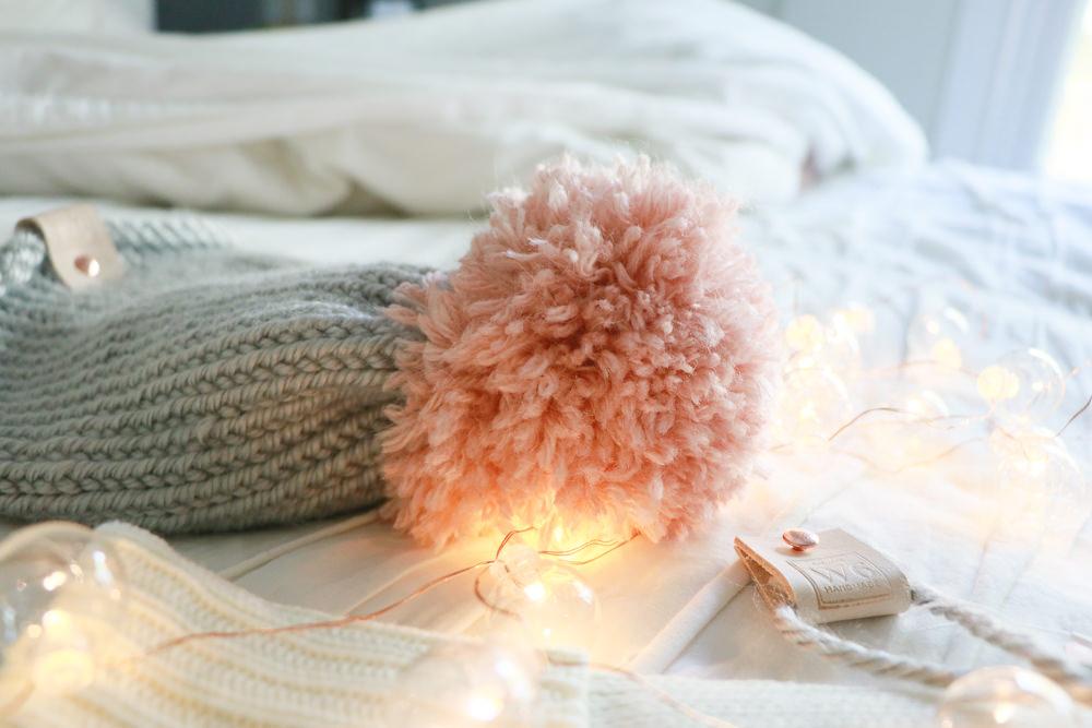 Cupid Girls Pink Pom Beanie   meg Marie Wallace   W6 Christmas Shop