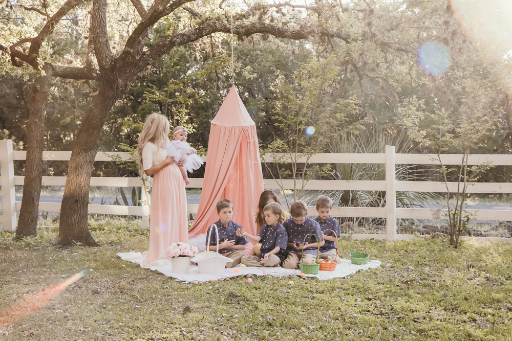 spring dresses with pink blush maternity | meg Marie Wallace