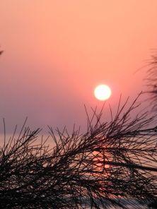 Sunset at the beach in Gokarna