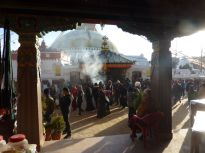 Incense and Kora at the temple