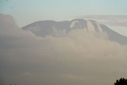 First view of Kilimanjaro