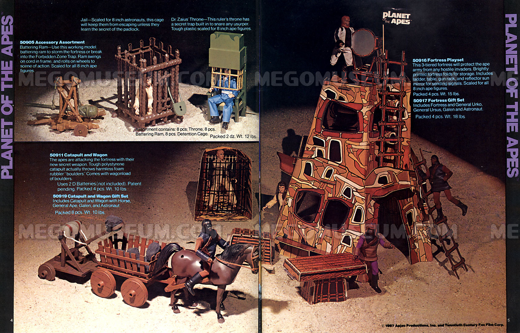 Mego Catalog Library 1975 Planet of the Apes Playsets