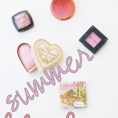 Favorite Summer Blushes - perfect mix of pink, peach, coral, and orange tones!