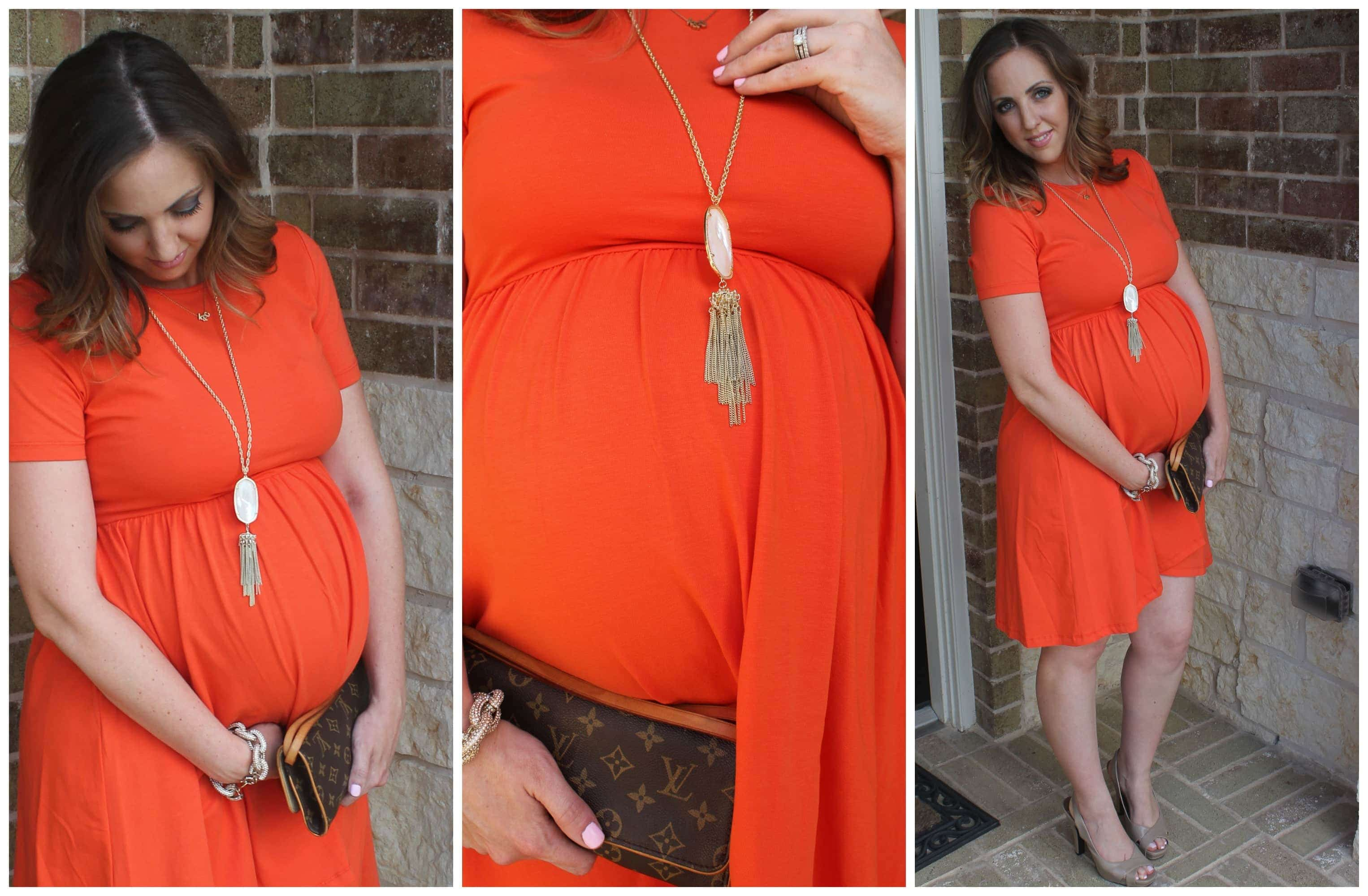Third trimester maternity style dressed in orange asos orange maternity dress ombrellifo Gallery