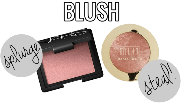 makeup dupes, Splurge / Steal Beauty Blush, Nars Orgasm vs Milani Luminoso, Nars Orgasm dupe