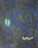 F*ck Buddies Acrylic and Cupcake Topper Assemblage on Canvas Mary-Margaret Stratton, 2003 Inquiring minds want to know… Did Fred and Barney really have a gay ole time?