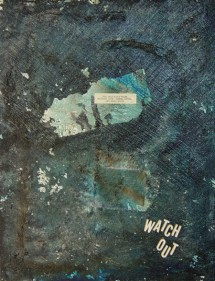 Heed the Signs Acrylic, and Fortune Assemblage on Canvas Mary-Margaret Stratton, 2003 With baited breath and anticipation, you rip open the package from one corner straight across to the other side and remove the goods. First you tug at the precious slip of paper being careful not to tear it. Then you crumble the object in half with your bare hands and yank out the message hoping it will be full of good fortune and THIS is what it says...