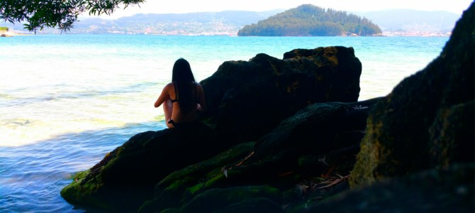 Playa de Chancelas,  una invitación al descanso y al baño