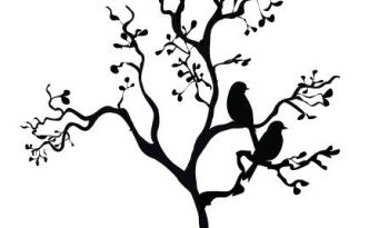 Two Pigeons on a tree