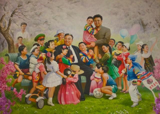 North Korea - Pyongyang - Childrens Palace - Mural (medium)