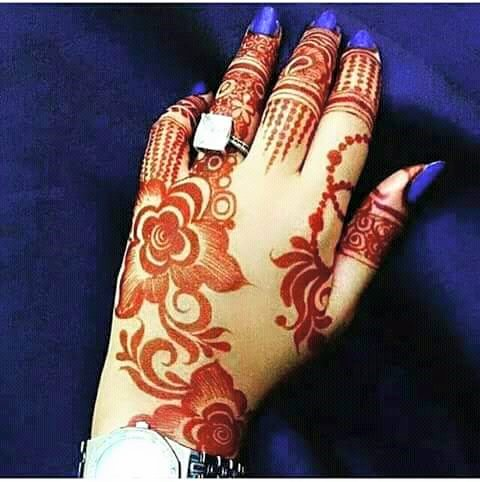 Latest Mehandi Designs For Hands 2018