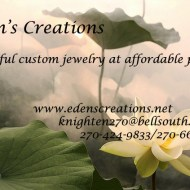 Eden's Creations, Sandra Knighten local artisan!