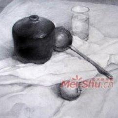 Canisters Kitchen Second Hand Units 素描静物组合黑罐子范画台布玻璃杯梨子苹果(2)_中国美术高考网
