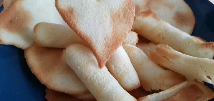 Kekse aus Eiweiß Hippen