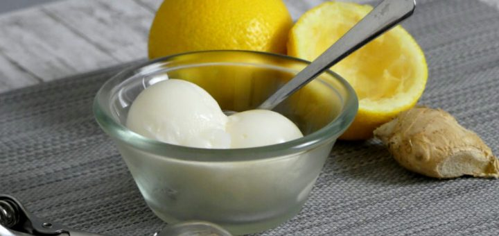 Zitronen Ingwer Sorbet