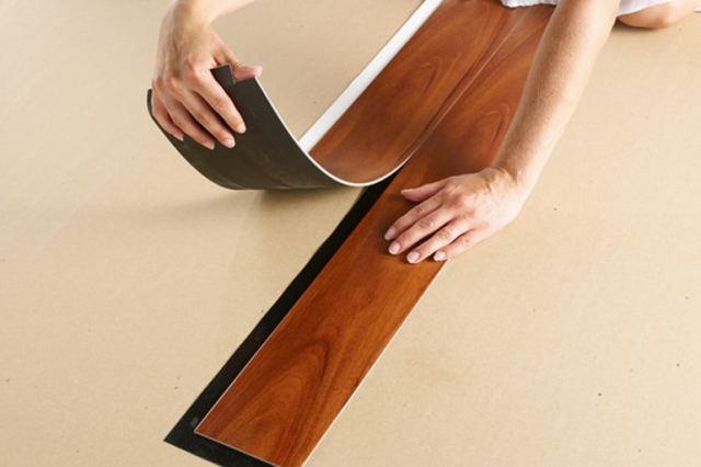 lantai vinyl dipasang sendiri