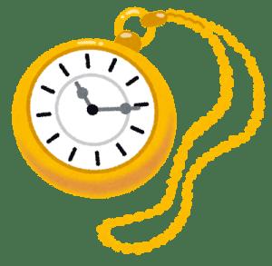 金の懐中時計