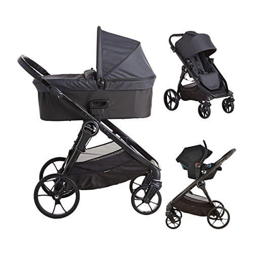 Baby Jogger City Premier Trio–Chaise de randonnée avec technologie quick-fold, granit