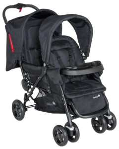 Safety First – 11487640 – Poussette Tandem Duodeal – Full Black – Collection 2014
