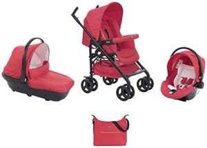 Chicco Trio Sprint Black Poussette Red Passion