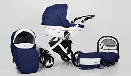 Hogartrend Milano Poussette pour bébé en 3pièces avec châssis en aluminium Couleur 4
