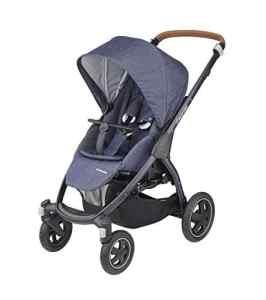 Maxi-Cosi 1224737111 Maxi-Cosi Stella Poussette utilisable dès la naissance (0-15 kg), avec pare-brise extra large et pneus de plein air Bleu étincelant