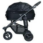 airbuggy for Dog Dome 2Taille M pour chien luxe Poussette avec frein Frein à main Sac amovible Noir CHIEN avec freins pneus + pluie incluse
