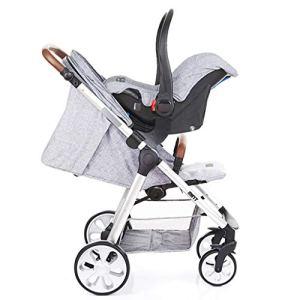 Llq2019 Poussette pour bébé avec Un Bouton Poussette Amortisseur de Chocs légère Paysage Peut s'asseoir et Se Plier (Couleur : Marron, Taille : 111 x 89 x 60 cm)