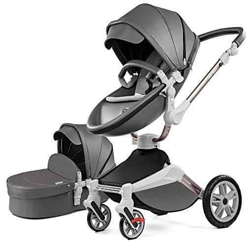 Hot Mom Poussette combinée 2020 Nouveau design – Noir