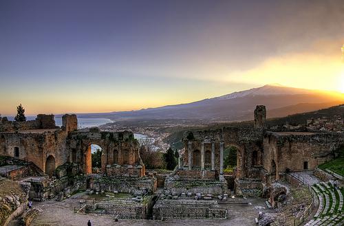 Taormina 的AnticoTeatro,Mario Cutroneo拍摄
