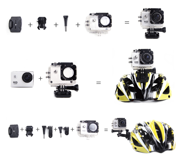 Wifi SPORTS HD DV Action camera FHD 1080p με 2'' οθόνη
