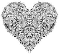 Ausmalbilder fr Erwachsene: Herz - Valentines - Weihnachten